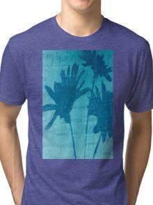 Aqua Blue Autumn  Tri-blend T-Shirt