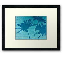 Aqua Blue Autumn  Framed Print