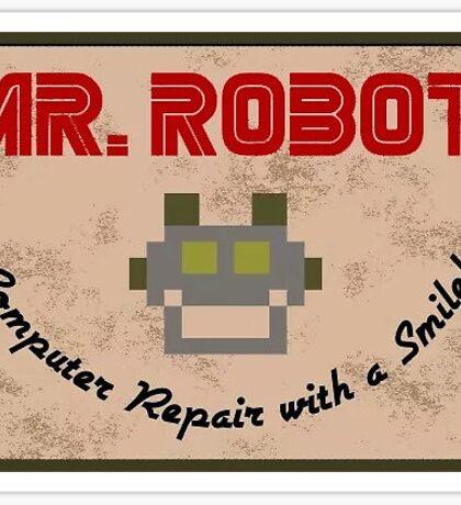 Mr Robot Logo Design Sticker