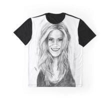 Jen Aniston Drawing Graphic T-Shirt