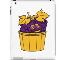 grapes grape harvesting tasty wine comic face cool sunglasses funny summer stomp bucket vat occur iPad Case/Skin