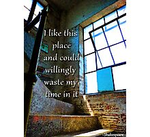 I Like This Place Photographic Print