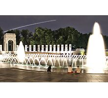 WWII Memorial Washington DC Photographic Print