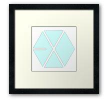 EXO - Pastel Blue Framed Print