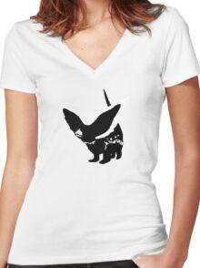 Terebra Women's Fitted V-Neck T-Shirt