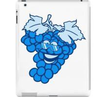 grapes grape harvesting tasty wine comic face cool sunglasses funny summer iPad Case/Skin