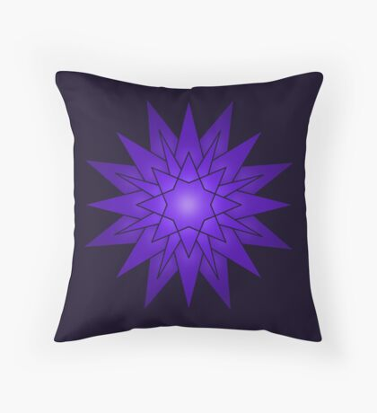 Mandala mauve Throw Pillow