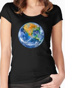 Planet Earth Women's Fitted Scoop T-Shirt