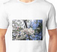 Bee at work on the apple tree flowe Unisex T-Shirt