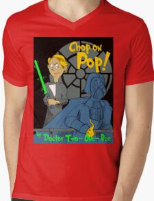 Chop on Pop! Mens V-Neck T-Shirt