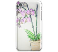 Sketch style orchid iPhone Case/Skin