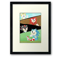 Sonic and Friends Framed Print