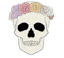 Flower Crown Skull Photographic Print
