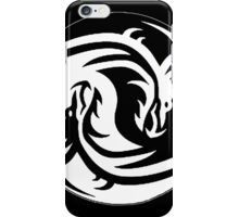 Yin & Yang dragons, black iPhone Case/Skin