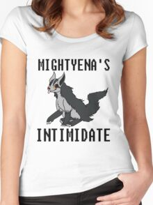 Mightyena's Intimidate! Women's Fitted Scoop T-Shirt