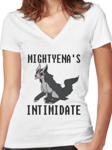 Mightyena's Intimidate! Women's Fitted V-Neck T-Shirt
