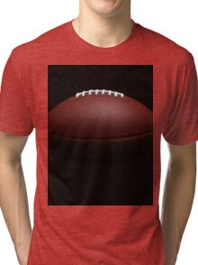Football Laces Up Tri-blend T-Shirt