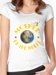 Mother's Day Gifts - Mother of the World Women's Fitted Scoop T-Shirt