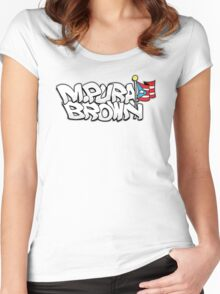 @M.Pura Brown  Women's Fitted Scoop T-Shirt