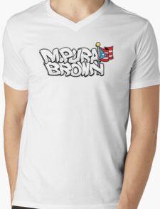 @M.Pura Brown  Mens V-Neck T-Shirt