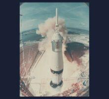 Early Nasa Rocket Launch Kids Tee
