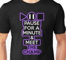 Meet the Champ (black shirt only) Unisex T-Shirt