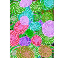Pink Green Purple Abstract Art Photographic Print