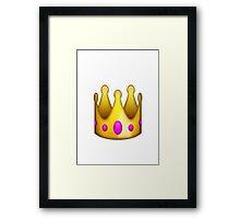 crown emoji Framed Print
