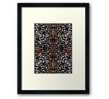 Brown White Tiger Bling Pattern  Framed Print