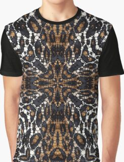Brown White Tiger Bling Pattern  Graphic T-Shirt
