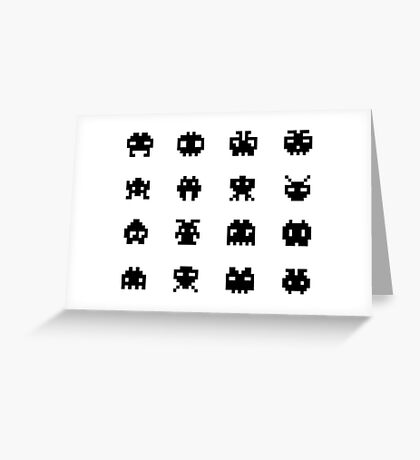 Invaders of Space Greeting Card