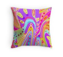 Wild Colors - Abstract Throw Pillow