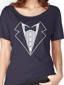 Fake Tux Tuxedo Suit Tie Women's Relaxed Fit T-Shirt