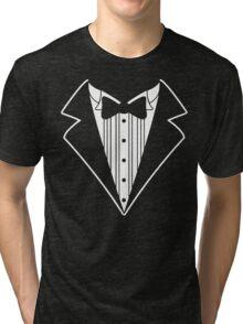 Fake Tux Tuxedo Suit Tie Tri-blend T-Shirt