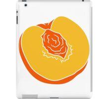 peach peach core cut half halved iPad Case/Skin