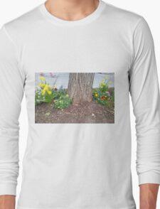 Walking by Urban Landscaping Long Sleeve T-Shirt