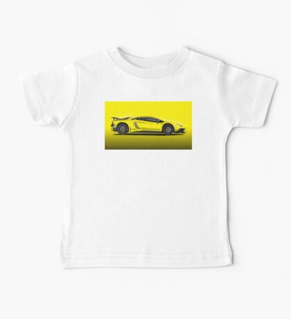 Yellow Aventador LP 750-4 Superveloce Baby Tee