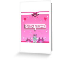 internet princess Greeting Card