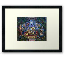 Bhojan lila Radha Krishna Framed Print