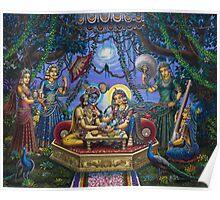 Bhojan lila Radha Krishna Poster