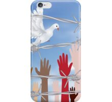 Hands Behind a Barbed Wire 4 iPhone Case/Skin