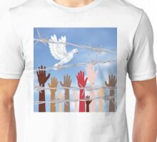 Hands Behind a Barbed Wire 4 Unisex T-Shirt