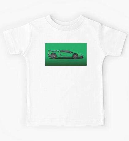 Green Aventador LP 750-4 Superveloce Kids Tee