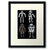 Retro Vintage Deep Sea Diver Collection Framed Print