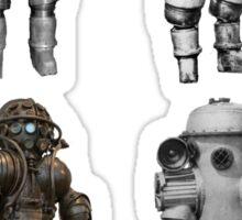 Retro Vintage Deep Sea Diver Collection Sticker