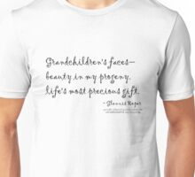 Grandchildren's faces haiku Unisex T-Shirt