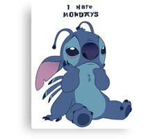 Stitch hates Mondays Canvas Print