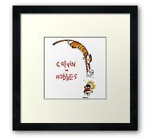 calvin and hobbes funny Framed Print