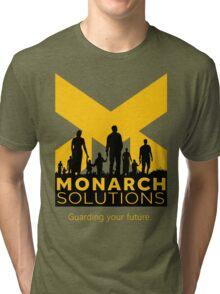 """Quantum Break - Monarch Solutions """"Guarding Your Future"""" Tri-blend T-Shirt"""