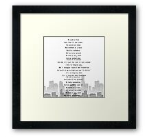 One Direction - Long Way Down Framed Print